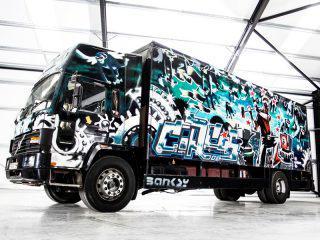 photo credit /Banksy Turbo Zone Truck