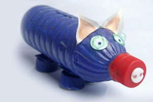 Piggy Bank Made By Recycled Plastic Bottle